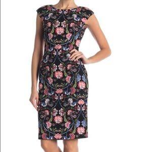 Vince Camuto Dresses - NWT Vince Camuto Floral Cap Sleeve Dress